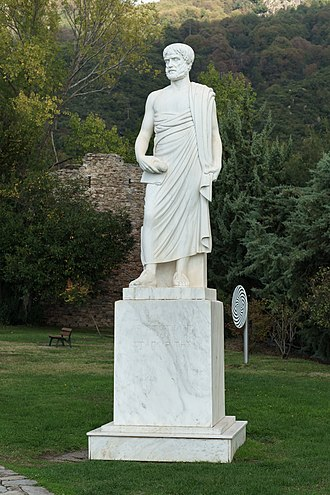 Western philosophy - Statue of Aristotle in Aristotle's Park, Stagira