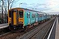 Arriva Trains Wales Class 150, 150253, Neston railway station (geograph 3800450).jpg
