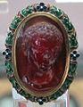 Arte romana, giovane principe della famiglia giulio-claudia, forse caio cesare, corniola, 10-5 ac. ca.JPG