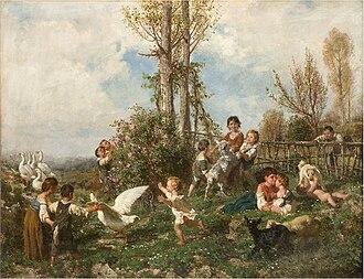 Filippo Palizzi - Image: Artgate Fondazione Cariplo Palizzi Filippo, La primavera