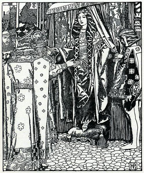 File:Arthur-Pyle King Arthur meets Lady Guinevere.JPG