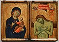 Artista umbro, madonna col bambino e uomo dei dolori, 1260 ca. 01.jpg