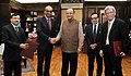 Arun Jaitley and the Deputy Prime Minister of Singapore, Mr. Tharman Shanmugaratnam at the signing ceremony of the Third Protocol for Amending the Double Taxation Avoidance Agreement (DTAA) between India and Singapore.jpg