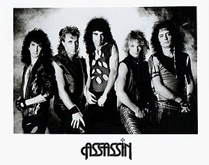 Assassin (band) - Publicity photo circa 1985