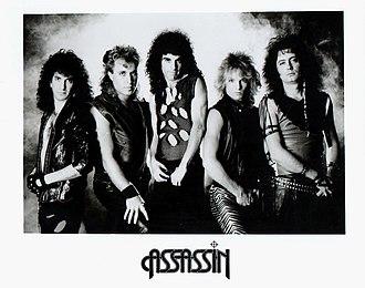 Assassin (band) - Publicity photo circa 1985