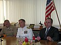 Assistant Campbell and Adm. Walsh address at a press conference at Tonga's Ministry of Foreign Affairs (5886409094).jpg