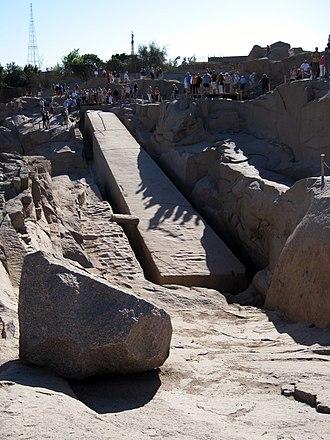 Unfinished obelisk - The unfinished obelisk of Aswan