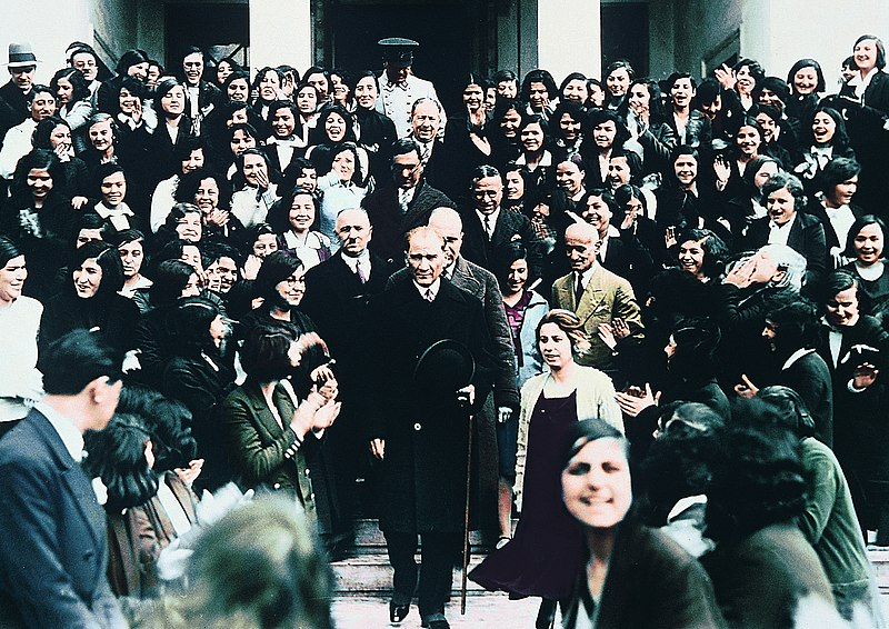 Ataturk visits a school.jpg