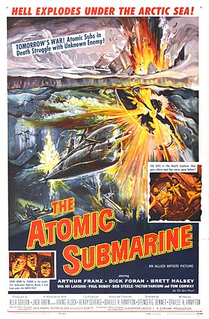 The Atomic Submarine - Theatrical release poster by Reynold Brown