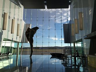 Canberra Airport - Atrium interior looking out on to the apron