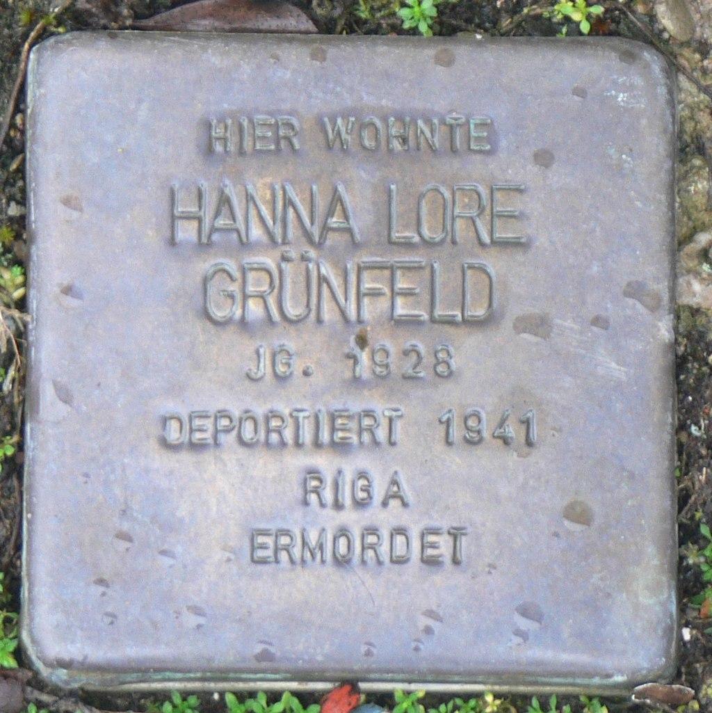 Aub - Stolperstein Grünfeld, Hanna Lore.jpg