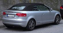 La coda di una A3 cabriolet.
