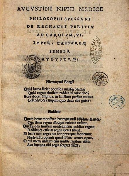 File:Augustinus Niphus De regnandi peritia title page.jpg