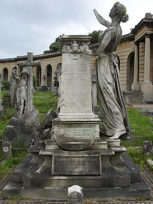 Augustus Harris - Funerary monument, Brompton Cemetery, London