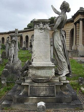 Augustus Harris - Funerary monument, Brompton Cemetery, London