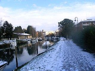 Ausa (Udine) river in Italy