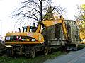 Aushub, Bodenabtragung per Bagger ca. 1 Meter tief am ältesten Gebäude von Hannover, Nikolaikapelle, Goseriede.jpg