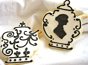 Jane Austen teapot cookie