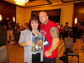 Author Roxanna Rose with John Quinlan at RT Booklovers Convention 2015.JPG