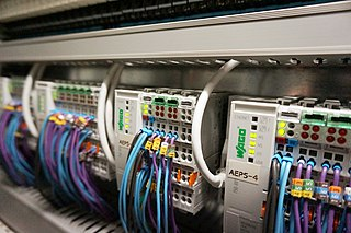 Programmable logic controller Programmable digital computer used to control machinery