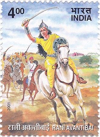 Avantibai - Avantibai on a 2001 stamp of India