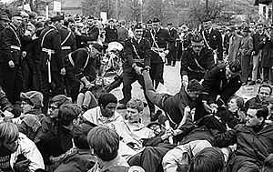 Protests of 1968 - Police action in connection with the 1968 Båstad riots.