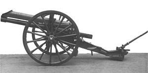 2nd East Riding Artillery Volunteers - 15-pounder gun, known to the gunners in France as the 'pip-squeak'.