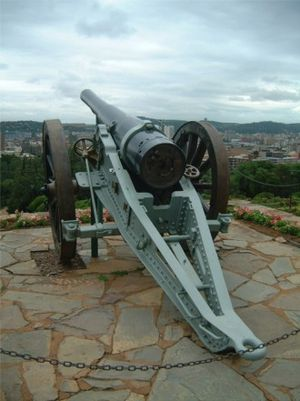 BL 5 inch gun Mk I – V - One of two guns outside the Union Buildings, Pretoria, South Africa