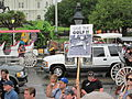 BP Oil Flood Protest NOLA Carriages Save The Gulf.JPG
