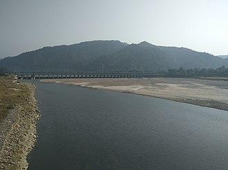 Bagmati River - Bagmati River Irrigation Diversion at Sarlahi, Nepal.