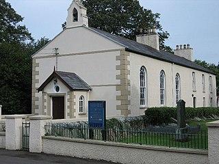 Lower Ballinderry village in the United Kingdom