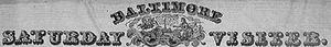 Baltimore Saturday Visiter - October, 1833