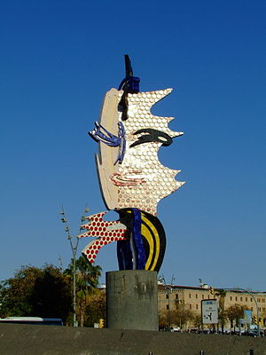 Barcelona Head Roy Lichtenstein