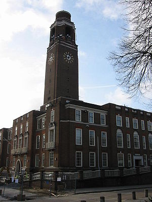 London Borough of Barking and Dagenham - The former town hall of the Municipal Borough of Barking