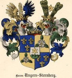 Roman von Ungern-Sternberg - The coat of arms of the Baltic noble family von Ungern-Sternberg