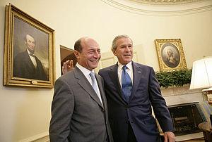 Traian Băsescu - Traian Băsescu with George W. Bush