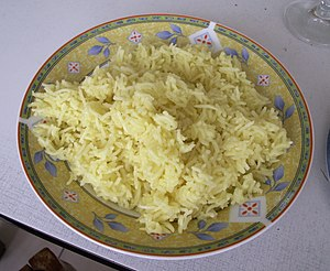 Saffron (use) - Image: Basic saffron rice