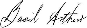 Basil Arthur - Image: Basil Arthur signature