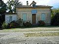 Bassanne, Gironde, canal latéral à la Garonne, maison d'éclusier de la dernière écluse (n° 50).JPG