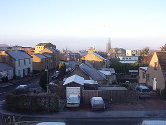 Bathgate - Bathgate on a frosty day in December 2005