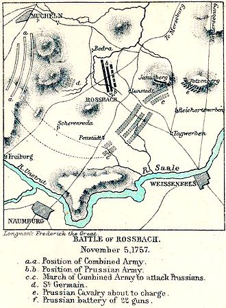 Battle of Rossbach - The Allied armies were spread out on the plain in front of Rossbach.