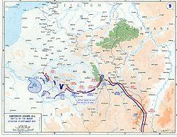 Németország meghátrál – a nyugati front helyzete 1914. szeptember 9-én.