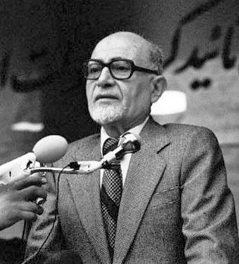 Iranian prime minister Mehdi Bazargan was an advocate of democracy and civil rights. He also opposed the cultural revolution and US embassy takeover. BazarganMehdi.jpg