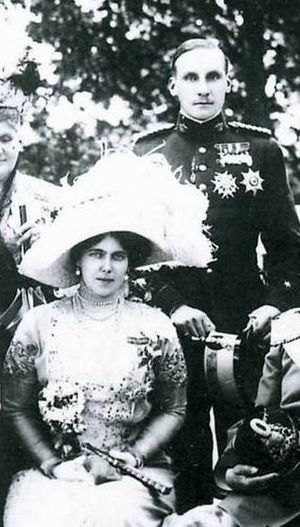 Infante Alfonso, Duke of Galliera - Infante Alfonso de Orleans and his wife Princess Beatrice.