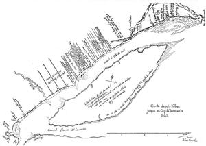 Île d'Orléans - Map from 1641 of Île d'Orléans