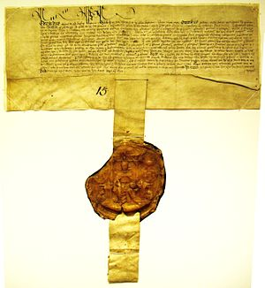 Pendent - Charter dated 1549, bearing a pendent seal