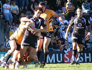 New Zealand Warriors - Ben Matulino and Evarn Tuimavave in Round 16 of the 2008 NRL season