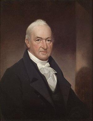 Benjamin Tallmadge - Benjamin Tallmadge portrait by artist Ezra Ames