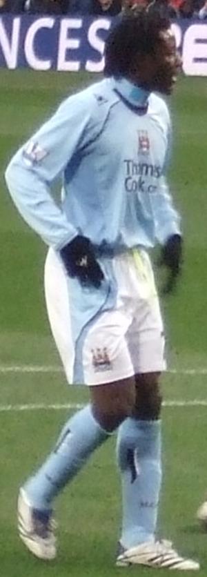 Benjani Mwaruwari - Benjani playing for Manchester City in 2008