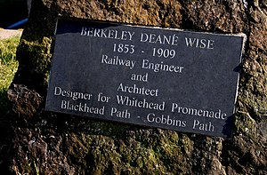 Berkeley Deane Wise - Plaque at Whitehead